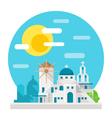 Santorini flat design landmark vector image
