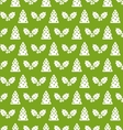 Seamless Christmas pattern fir tree and holly vector image