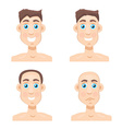 Stages Of Hair Loss new before and after vector image