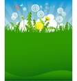 Summer dandelion background vector image