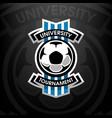 university tournament soccer logo vector image