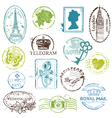 Vintage Rubber Stamp Collection vector image