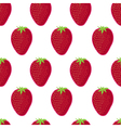 Strawberry seamless pattern Strawberry on white vector image