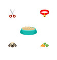 flat icon animal set of root vegetable puppy vector image vector image