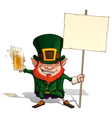 St Patrick Holding a Placard vector image