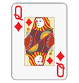 Jumbo index queen of diamonds vector image vector image