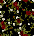seamless floral pattern with red and white roses vector image vector image
