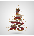 xmas tree - graffiti text vector image