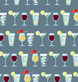 Seamless pattern with cocktails vector image