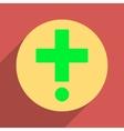 Pharmacy Flat Longshadow Square Icon vector image