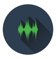 Music equalizer icon vector image