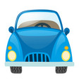 blue car on white background vector image