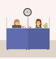 color background cubicles workplace office with vector image