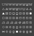 laundry symbols collection vector image