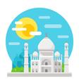 Taj Mahal flat design landmark vector image