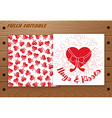 Valentines Day card on wooden table vector image