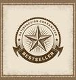 vintage bestseller label vector image