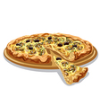 pizza with mushrooms and cheese vector image