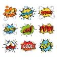 Set of bubble or bubbles speech vector image
