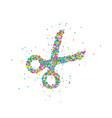abstract scissors splash vector image