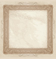 Vintage frame ornamental floral background vector image