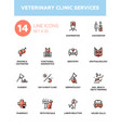 Veterinary clinic services - modern single vector image