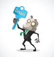 businessman key dream vector image