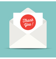 thank you mail card vector image vector image