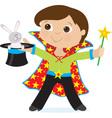 boy magician vector image vector image