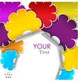 Colorful background made from stickers with place vector image vector image
