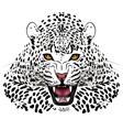 Leopard tattoo vector image