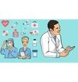 Medicine concept in modern vector image