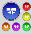 Ribbon Bow icon sign Round symbol on bright vector image