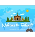 Welcome to Thailand poster with famous attraction vector image