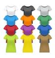 women t-shirts vector image