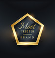 most trusted brand golden label and badge symbol