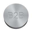 Button B2B vector image