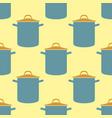 Seamless pattern pot saucepan background vector image