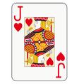 Jumbo index jack of hearts vector image vector image