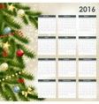 2016 New Year Calendar vector image