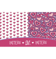 Two Love patterns white and pink vector image