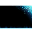 Blue Snow over Dark Background vector image vector image