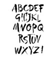acrylic brush style hand drawn alphabet vector image