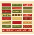 christmas washi tape strips collection vector image