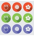 Flower icon set Tulip camomile daisy orchid vector image