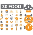 food signs vector image