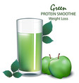 green apple smoothie vector image