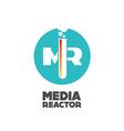 Media reactor logo concept vector image