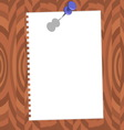 paper with pin vector image