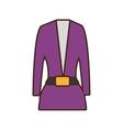 suit elegant female icon vector image